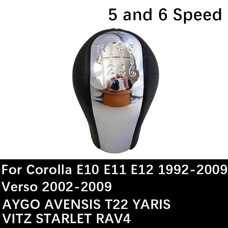 Car Auto Gear Shift Knob For Toyota Corolla E10 E11 E12 Verso AYGO AVENSIS T22 YARIS VITZ STARLET RAV4 Gear Lever Shifter handle
