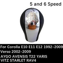 Poignée de vitesse du levier de vitesse   Pour Toyota Corolla E10 E11 E12 Verso AYGO AVENSIS T22 YARIS VITZ STARLET RAV4 levier de vitesse