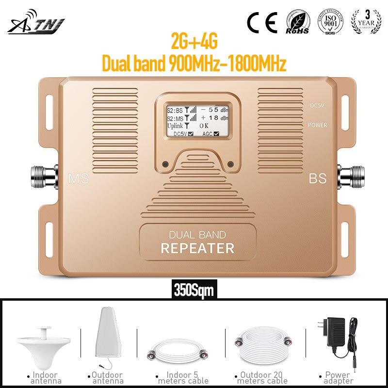 Conjunto completo de banda Dual 900/1800Mhz amplificador de señal móvil repetidor de señal para teléfono móvil señal Amplofier Teléfono de 2G 4G los usuarios