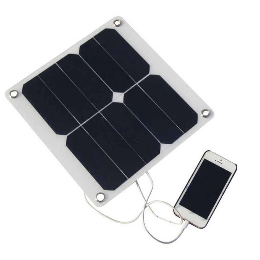 Zerosky 5V 10W Portable Solar Panel Charger Outdoor Solar Power Charging Solar Cell USB For Samsung Mobile Smart Phone