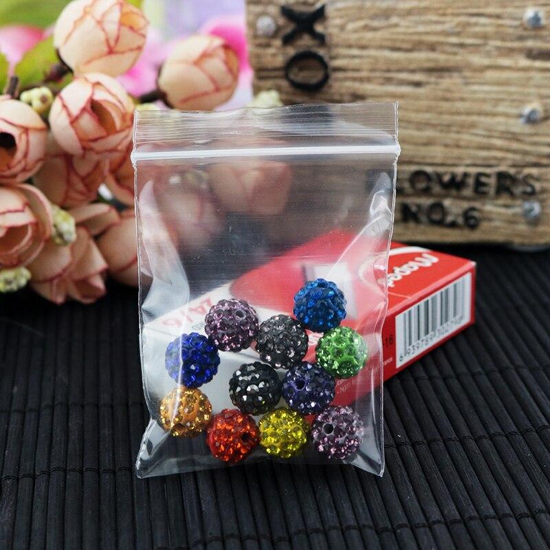 Verpackung Tasche 1000 teile/los (4cm * 6 cm) klar Resealable Kunststoff Taschen PE Zip-Lock Beutel dicke 0,08mm