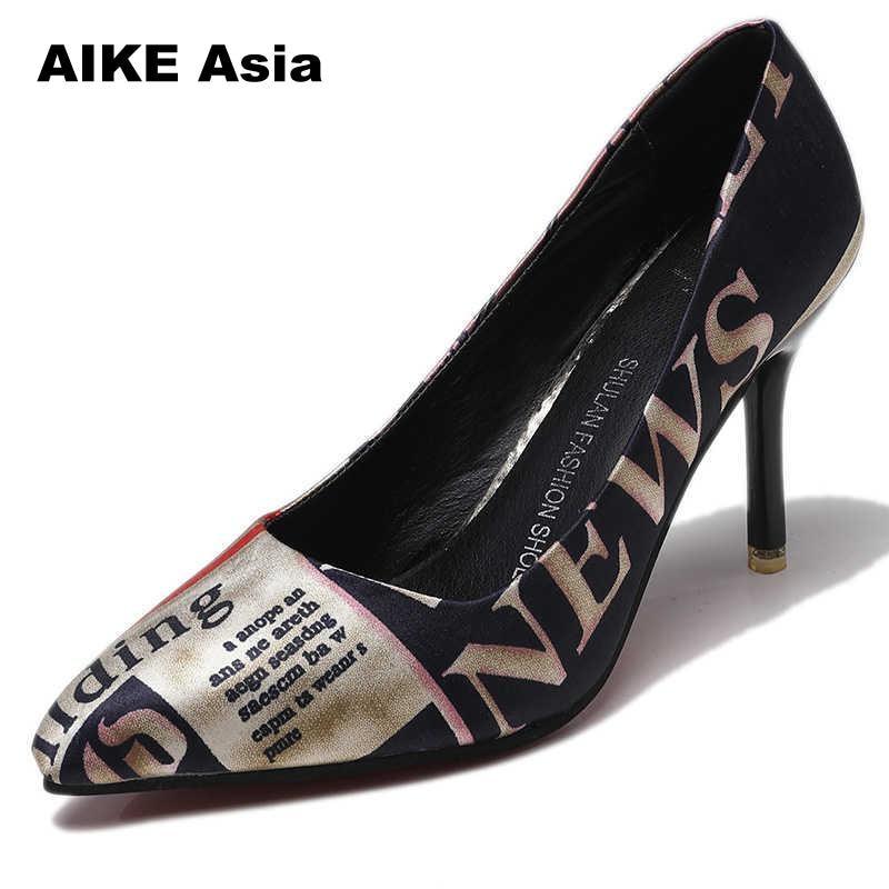 2019, Zapatos De tacón fino con estampado De cebra leopardo y punta estrecha para Mujer, Zapatos con plataforma De diseñador De lujo, cuñas De Mujer