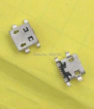 100 шт. микро-usb; мини-разъем 5pin Тяжелая пластина 0,9 мм DIP4 плоский без стороны длинный корпус для zte V880 мобильный телефон зарядка Хвостовая розе...