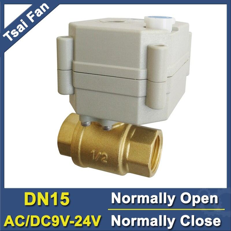 TF15-B2-B معدات معدنية BSP/NPT 1/2 ''DN15 عادي مفتوح عادي صمام مغلق مع دليل تجاوز التيار المتناوب/DC9V-24V CE IP67