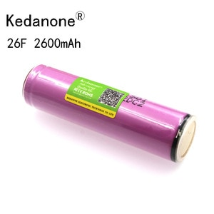 Kedanone Защищенный 18650 аккумулятор оригинальный для Samsung 18650 2600mah аккумулятор ICR18650 26F M Li lon перезаряжаемый с PCB