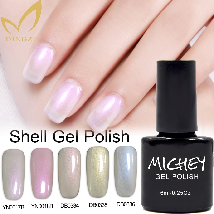 Summer Pearl Color Nail Polish Soak Off Shell Gel Polish Manicure Gel Varnish Shiny Gel Lacquer Nail Art Set