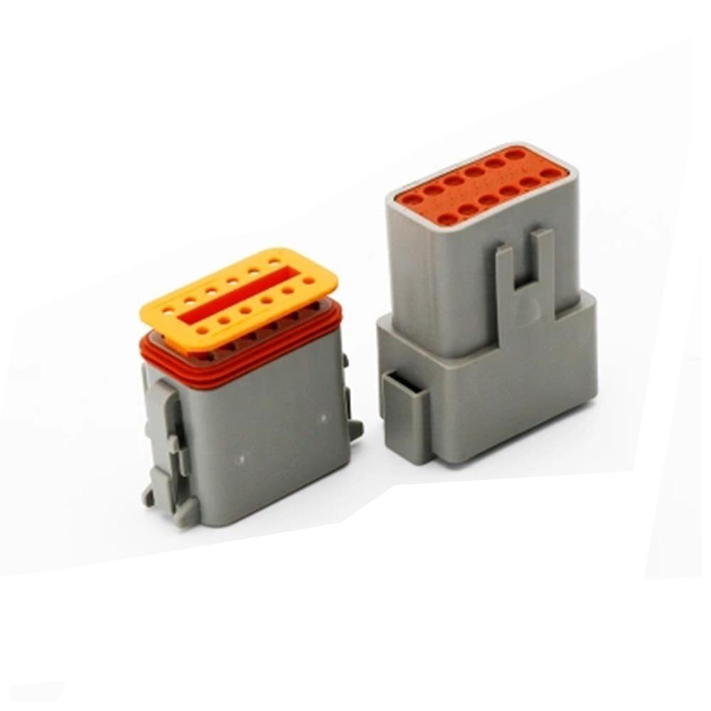 سلك كهربائي مقاوم للماء للسيارة ، 5 قطع ، 12 دبوس ، 14-18 AWG ، أنثى وذكر ، لموصل السيارة الألمانية