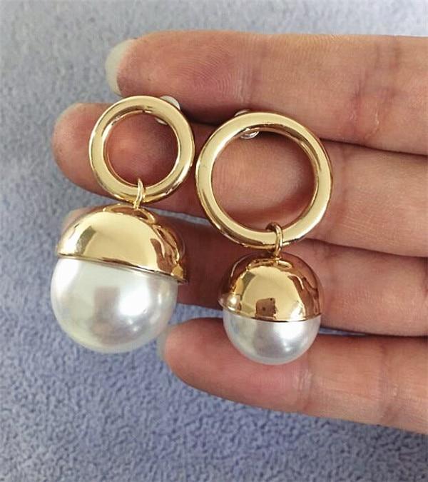 Maravilla eterna Glam perla de imitación pendientes de declaración de fiesta chica hermosa superior Japón Corea regalo de boda Vestido impresionante pop venta 3465