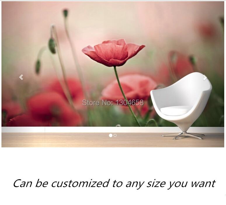 Freies verschiffen nach-moderne 3D wandbild Delicate Mohnblumen Wandbild sofa schlafzimmer TV hintergrund tapete