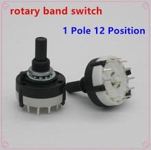 RS26 1 pôle Position 12 sélectionnable   2 pièces, bande sélectionnable, canal rotatif, commutateur rotatif, interrupteur rotatif à une pont, sélecteur de bande, haute qualité