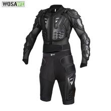 WOSAWE ensemble de protection darmure   Pour motocross, protection du dos et de la poitrine, pour moto