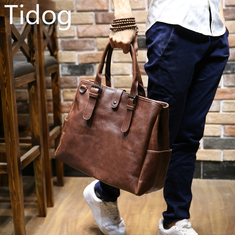Tidog-حقيبة كتف كورية للرجال ، حقيبة حمل للسفر