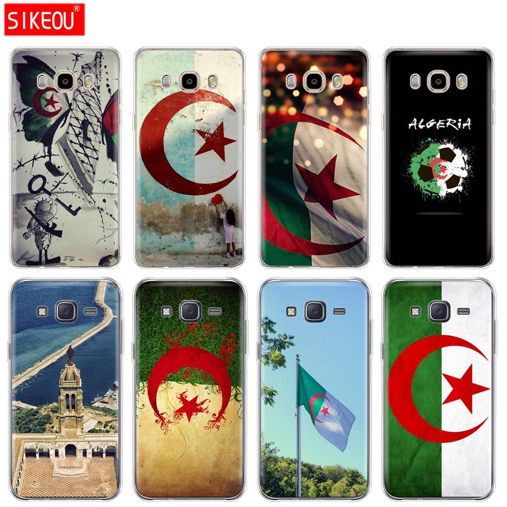 Silicone case capa do telefone para Samsung Galaxy J1 J2 J3 J5 J7 MINI 2016 prime 2015 Argélia Bandeira