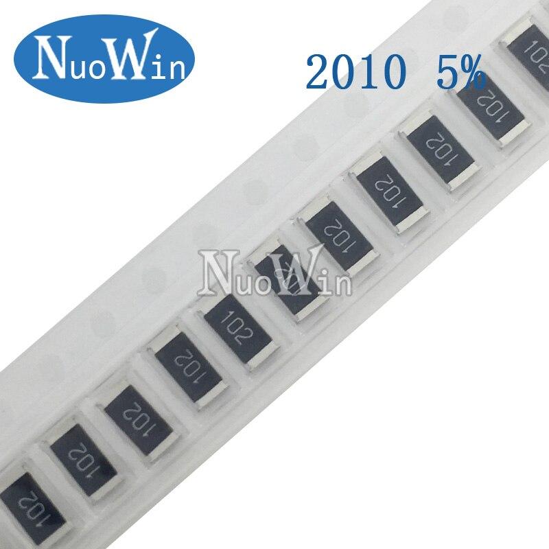 100 91 pçs/lote 2010 SMD Resistor 5% K 100K 110K 120K 130K ohm