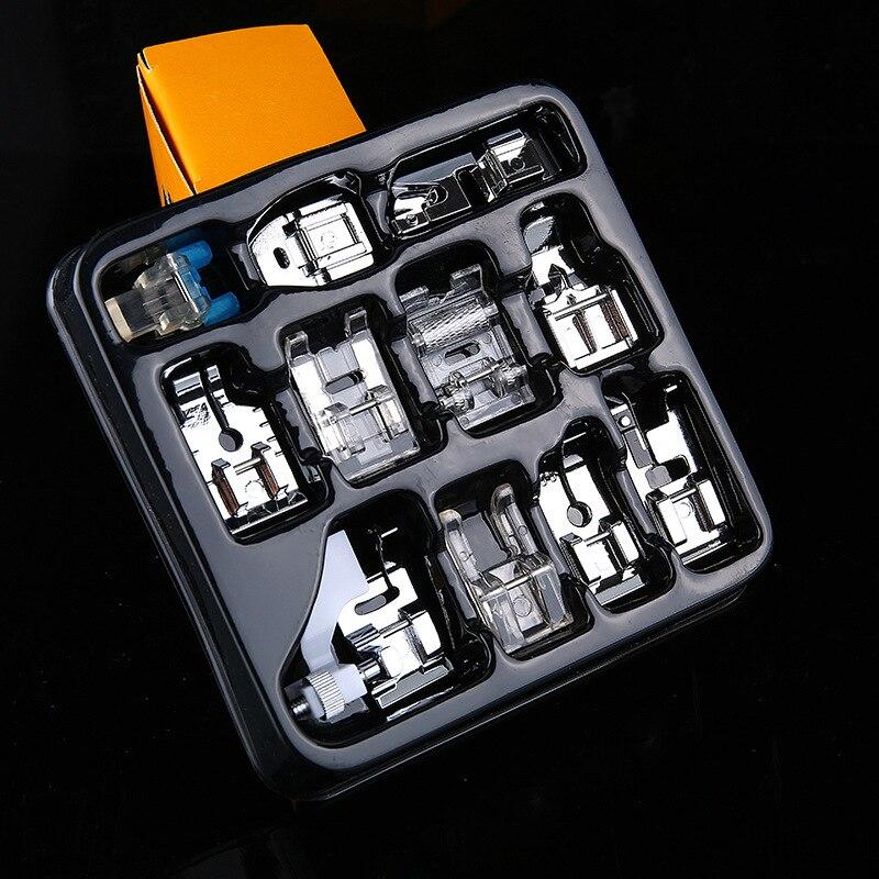 11 Pcs Mini Multifunctionele Naaivoet Onderdelen Accessoires Naaivoet Set Voor Elektrische Naaimachine Accessoires