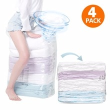 TAILI sacs à vide en trois dimensions   4 pièces pour gagner de lespace, aucun outil nécessaire pour ranger une chambre à coucher