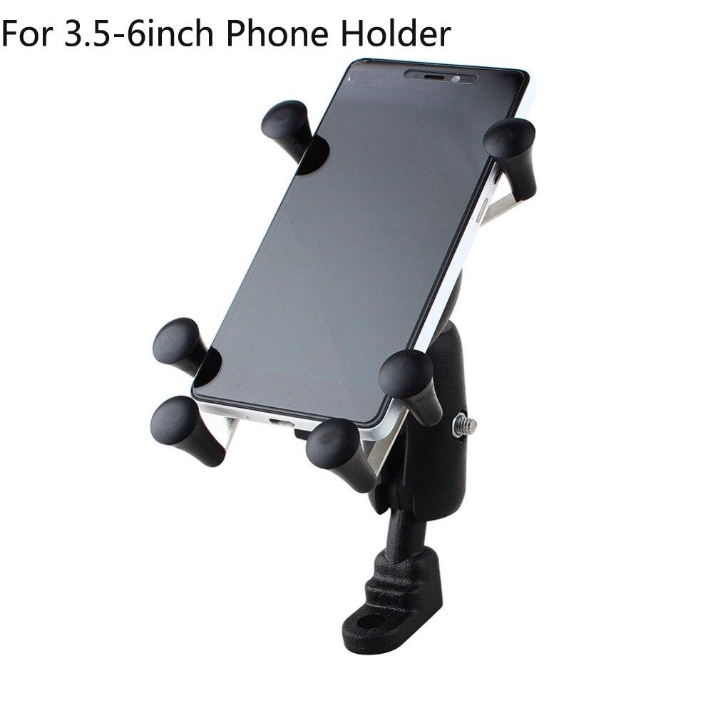 Telefone Universal Ajustável Da Motocicleta Da Bicicleta Da Bicicleta do Guiador Montar Titular Do Telefone À Prova de Choque Para O Iphone 7 Plus Xiaomi Estande Hold