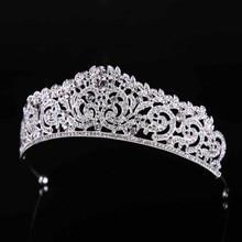Baroque Rhinestone Big Tiaras and Crowns Headbands Hair Jewelry Pageant Bride Diadem Wedding Hair Accessories For Women JL