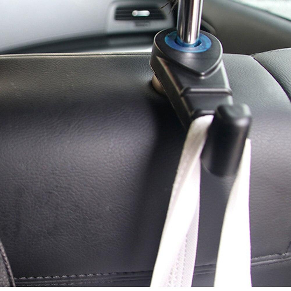 Soporte Universal para el reposacabezas del asiento trasero del coche, ganchos de soporte para colgar el reposacabezas del bolso, monedero, soportes de tela, estilo de abarrotes para el coche 1 unidad
