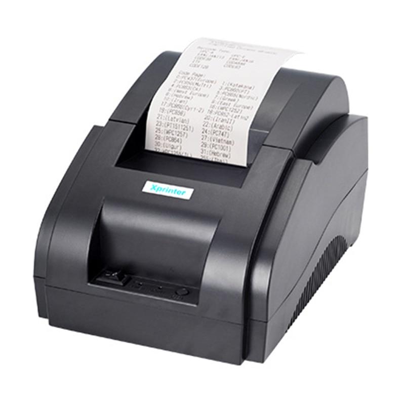 Принтер POS 58 USB и USB + Bluetooth для Android и IOS 58 мм, термальный маленький принтер для билетов, машина для купюр