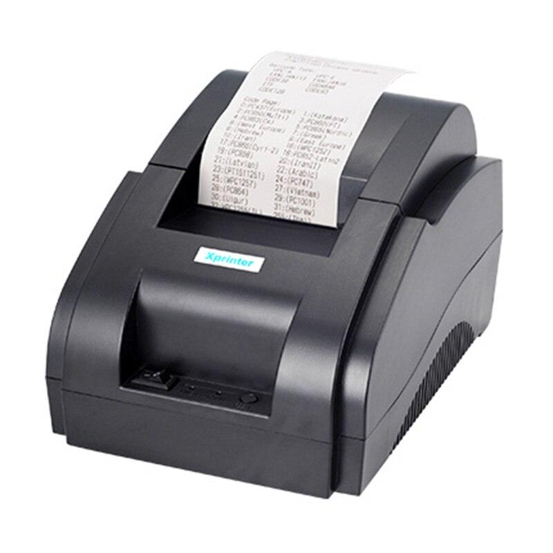 Xprinter POS 58 USB y USB + Bluetooth para Android y IOS 58mm térmica impresora de tickets pequeña Bill máquina