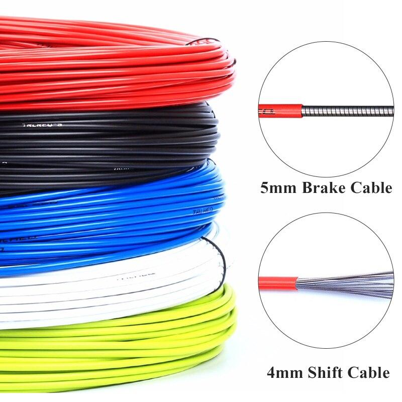 Cabos de freio de bicicleta com 3 metros, habitação de 4mm/5mm, mtb, mountain bike, cabo de câmbio cabo de freio