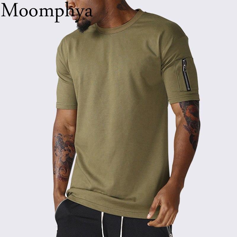 Moomphya-Camiseta de manga con cremallera para hombre, camiseta divertida con botones y...