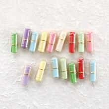 100 stks/partij Mini Wens Fles Bericht in een Fles Bericht Leuke Capsule Brief Liefde Pil Volledige Clear Kleur