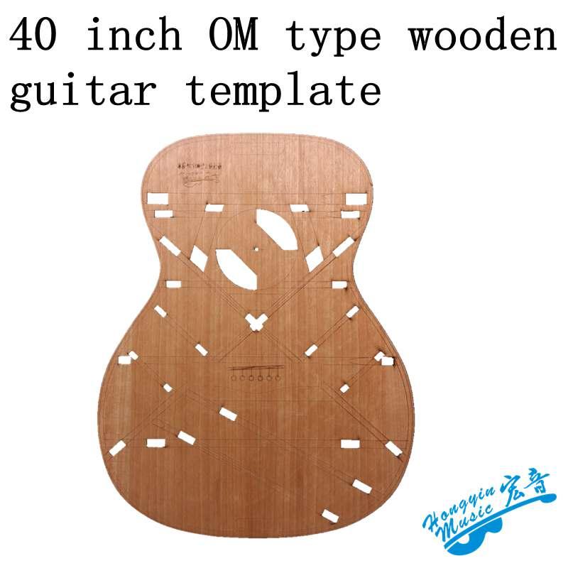 Plantilla OM de 40 pulgadas para hacer guitarras, molde de madera, forma de agujero de sonido, haz de sonido, posición de código