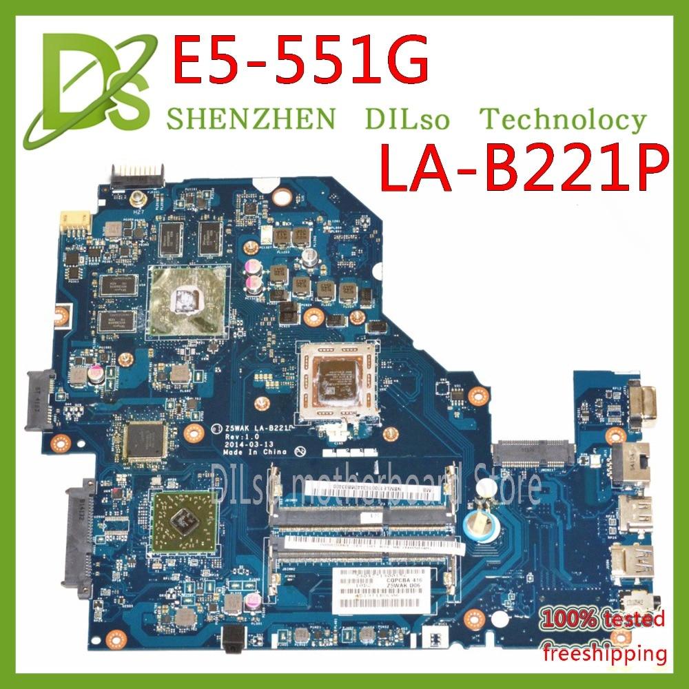 KEFU Z5WAK LA-B221P pour acer aspire E5-551G LA-B221P carte mère dordinateur portable A8 CPU R7 M265 GPU NB.MLE11.003 carte mère dorigine