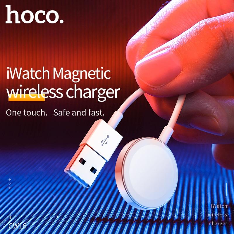 HOCO Original Drahtlose Ladegerät für Apple Uhr Ladegerät Magnetische für ich-Uhr Lade USB Kabel 1M für Apple uhr Serie 4 3 2