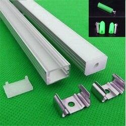5-30 компл./лот 12 мм полоса СВЕТОДИОДНЫЙ алюминиевый профиль для светодиодного светильника, светодиодный алюминиевый канал, крышка ленты, под...