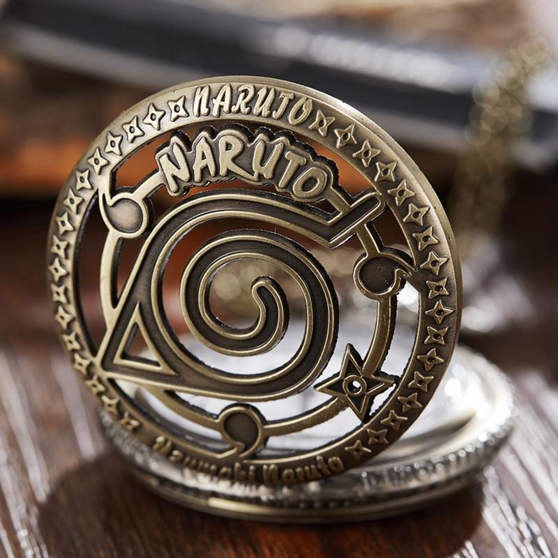 Японские Карманные часы Samura с цепочкой-брелоком, кварцевые мужские часы Naturo с персонажами мультфильмов, комиксами и открытым лицом, мужские...