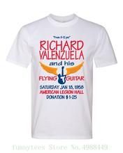 Ritchie Valens La Bamba Flying afiche de guitarra estilo gráfico camiseta divertida camiseta 3d hombres caliente barato negro masculino camiseta