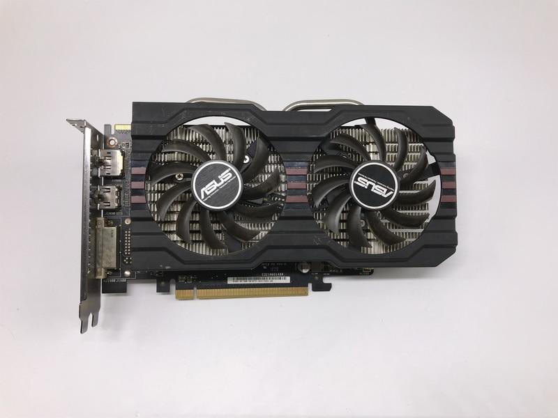 مستعملة ، ASUS R7 260X2 GB 128bit DDR5 ألعاب حاسوب شخصي مكتبي بطاقة جرافيكس للألعاب ، 100% اختبار جيد