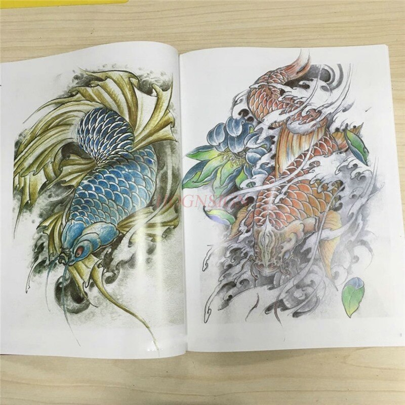 Libros de tatuajes, libro de Tatuajes chinos, libro de tatuajes con patrón de manuscrito, álbum Atlas, Material de dibujo pequeño práctico, suministros, venta