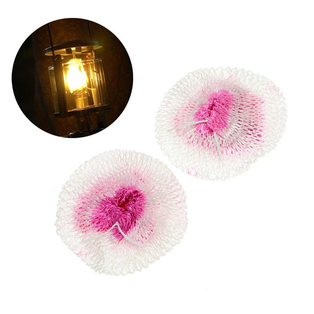 2 piezas de linterna de Gas para acampar al aire libre Mantles lámpara de luz duradera al aire libre accesorios de Camping manto lámpara sombra Gas linterna Mantles