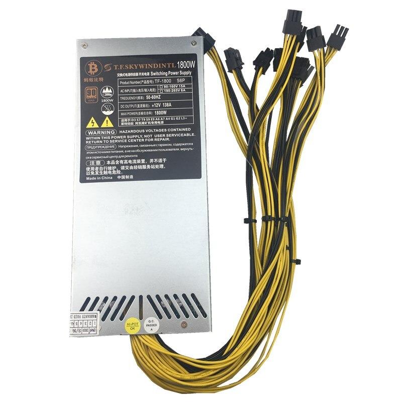 1800 واط امدادات الطاقة 6PIN * 10 Ant ETH antminer BTC LTC داش مينر ماكس 2000 واط PSU ل S9/S7/L3 +/D3/T9/A8/E9/A4 + PK APW3 + +