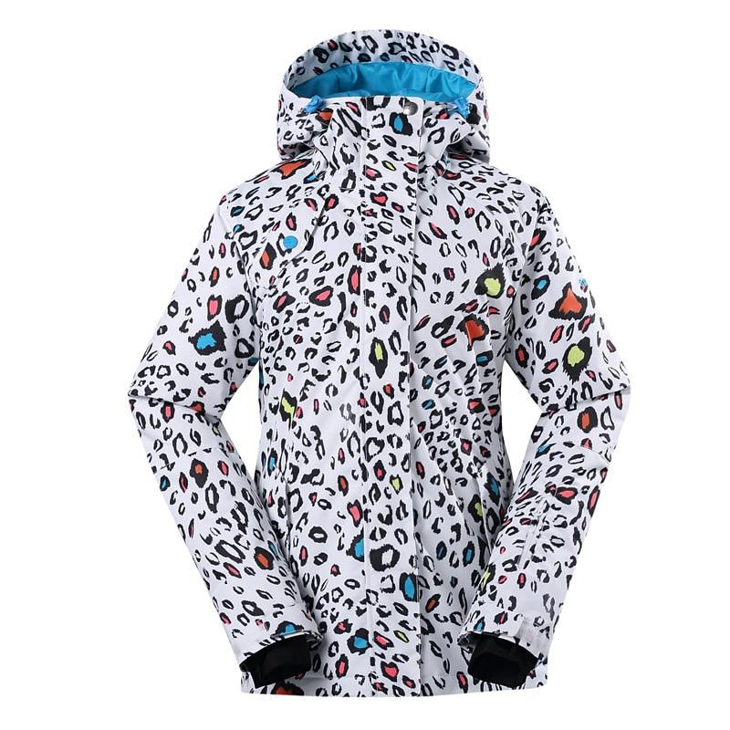 Gsou, traje de esquí de Invierno para mujer, ropa de esquí de una sola tabla, color, chaqueta femenina de algodón 1408