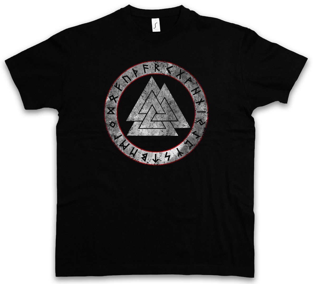 2018 Fashion Short Tee Valknut Runes T Shirt Paganism Newpaganism Odin Thor Loki Midgard Rune Walhalla