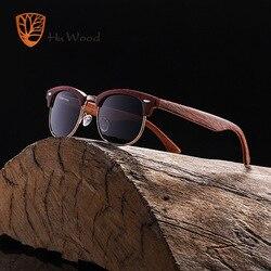 Солнцезащитные очки HU WOOD, модные овальные поляризационные очки без оправы для мужчин и женщин, деревянные солнцезащитные очки в полоску, очки для вождения, GRS8005