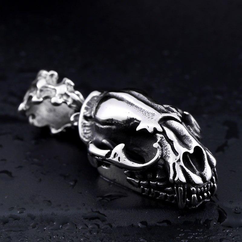 Żołnierz ze stali świetnie zagrywa szablastozębne tygrys popularny wisiorek naszyjnik 3D projekt wykwintne mężczyzn biżuteria