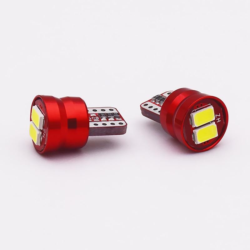 AUTBIC 2 uds T10 W5W bombillas LED de coche 12V 12V 5630 2SMD blanco 6500K Auto luces interiores de Techo Luz de lectura para puerta LED aparcamiento maletero lámparas