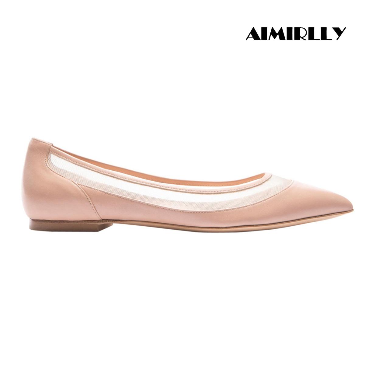 Zapatos de mujer 2019 con puntera plana Heesl Patchwork rejilla primavera otoño vestido de fiesta zapatos Casual cómodo Slip-On negro desnudo