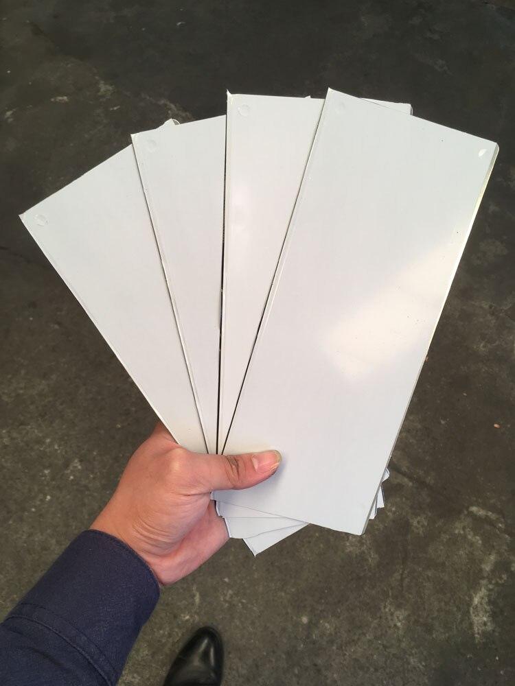 O envio gratuito de 4 folhas 100x215x0.3mm placa de aço em branco que faz o clichê para a impressão da almofada alta qualidade 5 tamanhos disponíveis