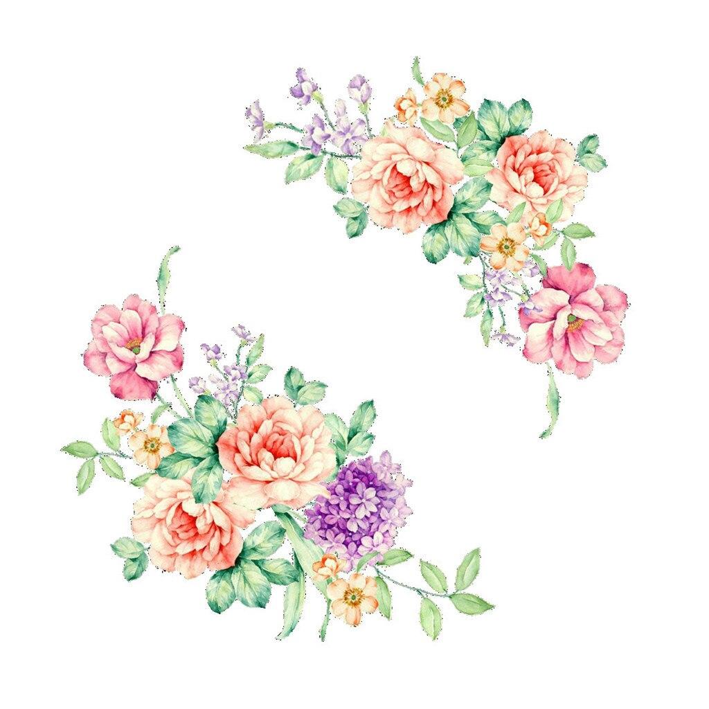 3D наклейки на стену, цветные цветы, красивые наклейки на холодильник с пионами, украшение для туалета, ванной комнаты, 2019, DIY стикер на стену #30