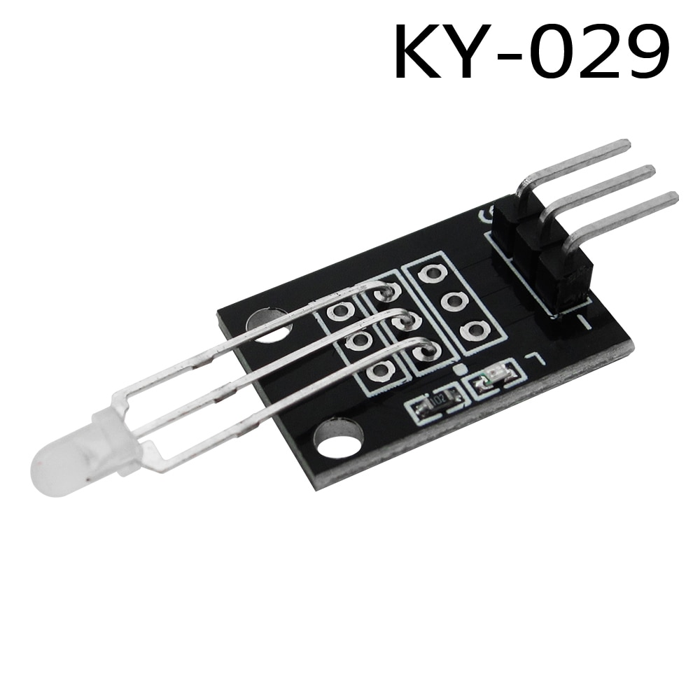 HAILANGNIAO 10pcs/lot KY-029 3mm Two Color Red and Green LED Common Cathode Module for DIY Starter Kit 2-color sensor