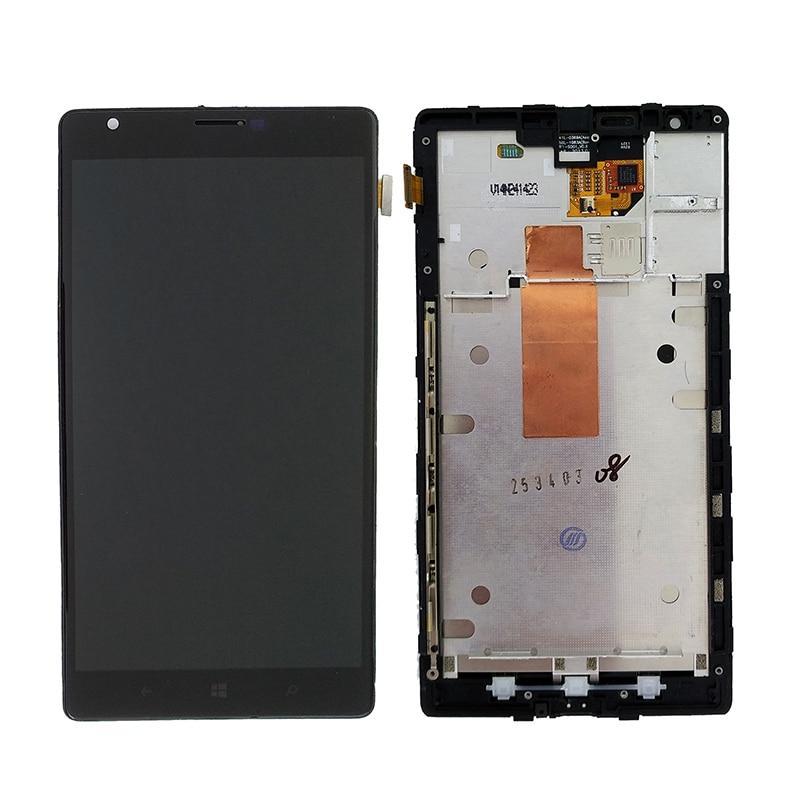Для Nokia Lumia 1520 RM-937 RM-940 ЖК-дисплей + кодирующий преобразователь сенсорного экрана в сборе + запасные части рамы
