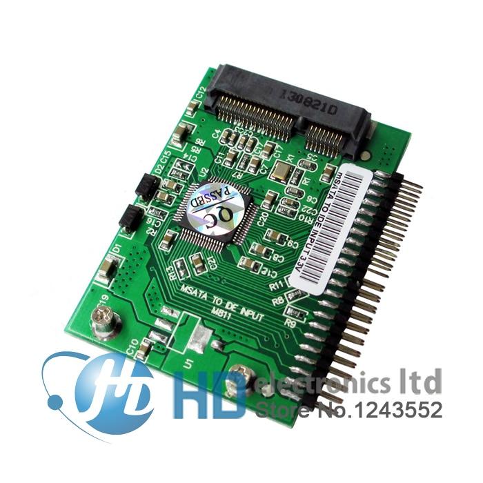 Мини PCI-e msata SSD в IDE, 1,8 дюйма, 3,3 В, 44pin адаптер, карта msata PCI Express Sata конвертер для ноутбука, бесплатная доставка