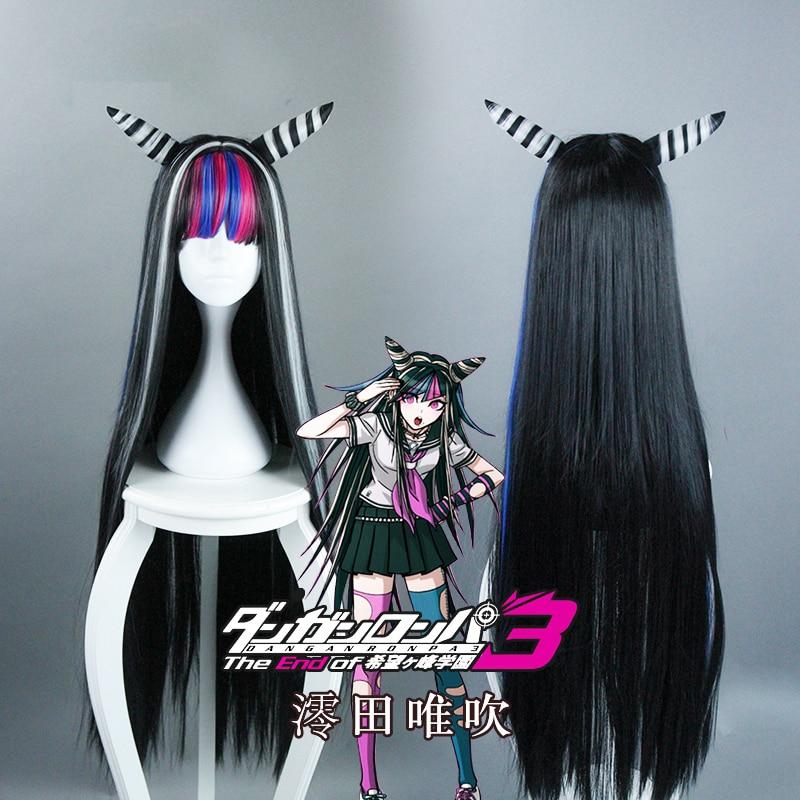 Danganronpa Dangan Ronpa Mioda Ibuki pelucas Cosplay 100cm largo resistente al calor pelo sintético peruco Cosplay peluca + gorra de peluca